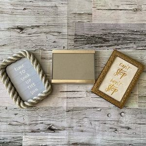 Gold and silver 4x6 metal picture frames